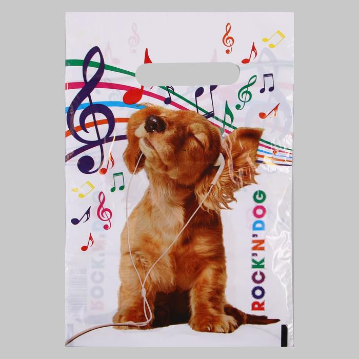 Пакет Rock n Dog, полиэтиленовый с вырубной ручкой, 20х30 см, 30 мкм