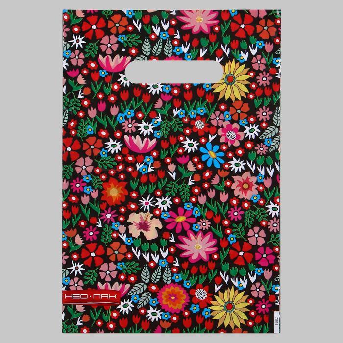 Пакет Цветочное ассорти, полиэтиленовый с вырубной ручкой, 20х30 см, 30 мкм