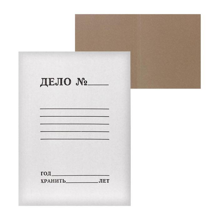 Папка-обложка Дело, 250г/м2, на 200л, белая, немелованная