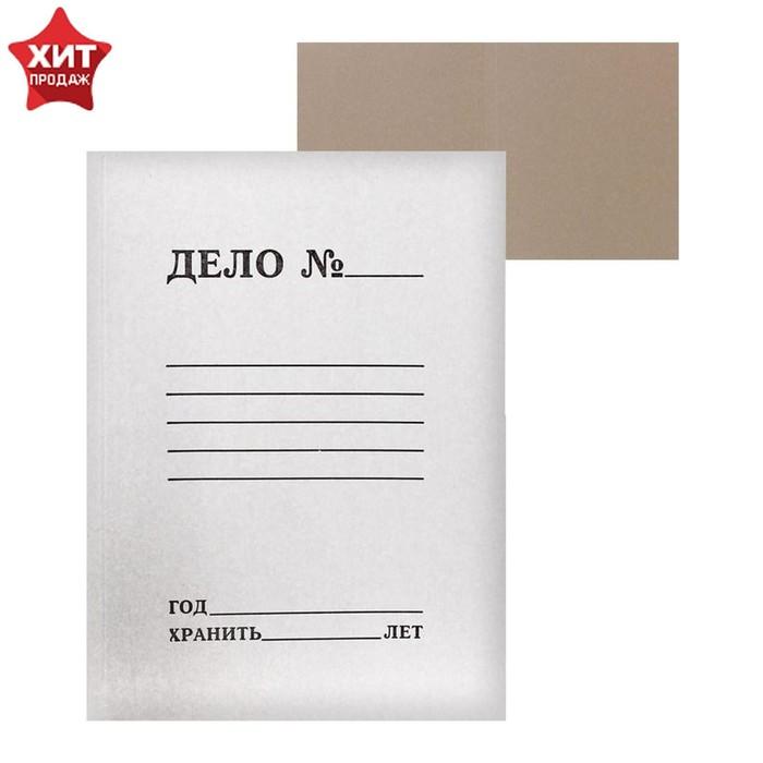 Папка-обложка Дело, 380г/м2, на 200л, белая, немелованная
