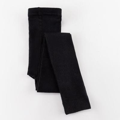 Леггинсы детские шерстяные, цвет чёрный, рост 110-116