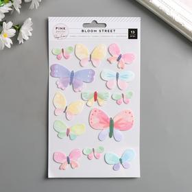 """Стикеры-бабочки Pink Paislee """"Bloom Street"""" 13 шт"""
