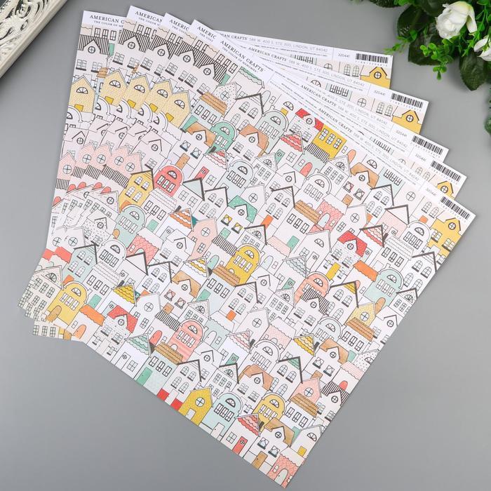 "Бумага для скрапбукинга American Crafts ""Cheerful"" 30.5х30.5 см, 190 гр/м2"