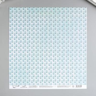 """Бумага для скрапбукинга """"Mr.Painter"""" 30.5x30.5 см """"Цветочный атлас. Мак №1"""" 190 г/кв.м"""