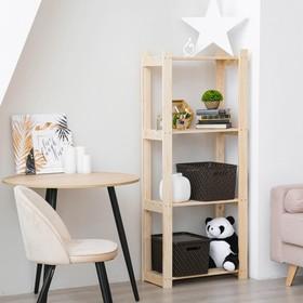 Стеллаж деревянный усиленный  150х64х28см, 4 полки Ош