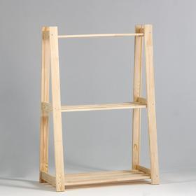 Стеллаж деревянный усиленный 'Горка' 120х84х38см, 3 полки Ош