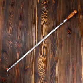 Кочерга узбекская с деревянной ручкой, с узором, 60/1,6см, сталь 3мм Ош
