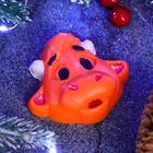 """Мыло фигурное """"Символ года: Бычок с чубчиком"""" оранжевый 2D, 40гр."""