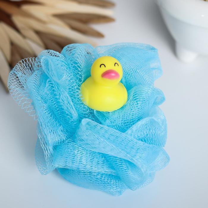 Игрушка-мочалка для купания, детская «Уточка»