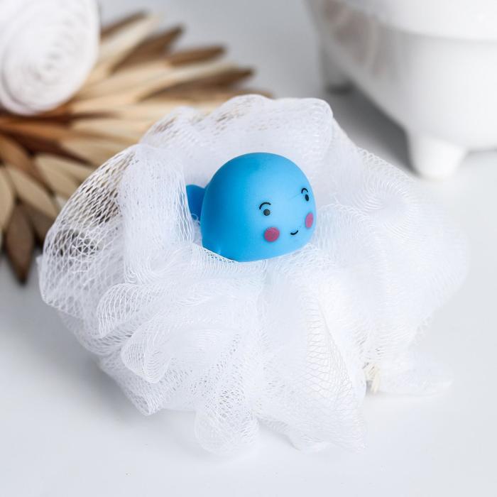 Игрушка-мочалка для купания, детская «Дельфин»