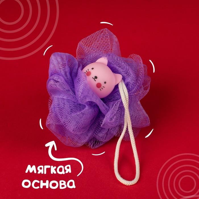 """Мочалка детская для купания """"Котенок"""""""