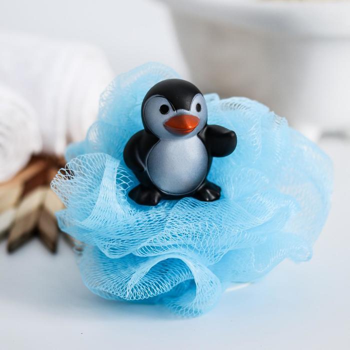 Игрушка-мочалка для купания, детская «Пингвин»