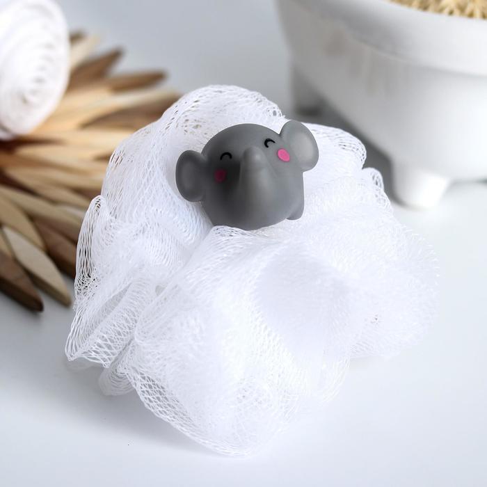 Игрушка-мочалка для купания, детская «Слоненок»