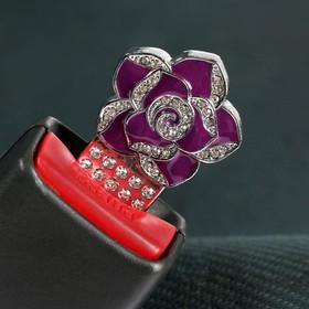 Заглушка ремня безопасности 'Роза', металлическая Ош