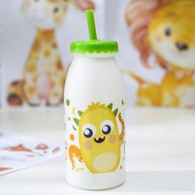Бутылка с трубочкой «Фрутис», 6,5×6,5×19,5см, цвет МИКС Ош