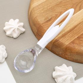 Ложка для мороженого «Белый жемчуг», пластик, цвет белый
