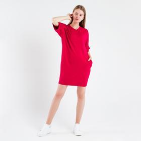 Платье женское, цвет красный, размер 50