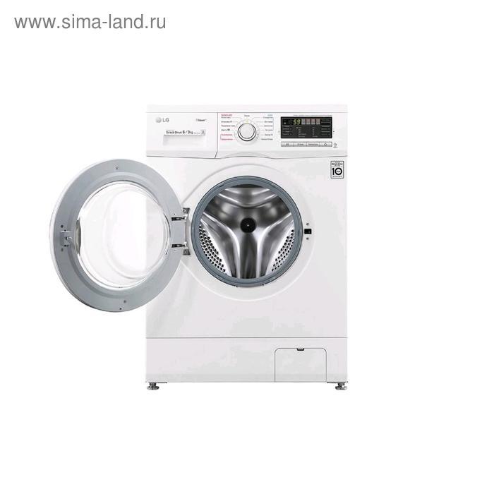 Стиральная машина LG F 1296 CDS0, класс А, 1200 об/мин, до 6 кг, с паром, белая