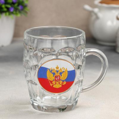 Кружка для пива «Герб на флаге», 500 мл, в подарочной упаковке - Фото 1