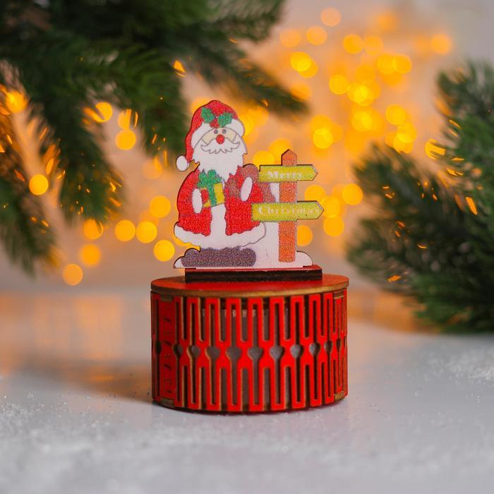Новогодний декор с подсветкой С праздником 7711 см, МИКС