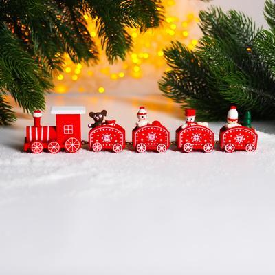 Новогодний декор «Сказочный поезд» 23×5×2 см, МИКС - Фото 1