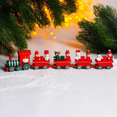 Новогодний декор «Сказочный поезд» 26×5×2 см, МИКС - Фото 1
