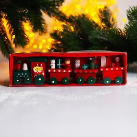 Новогодний декор «Сказочный поезд» 20×5×3 см