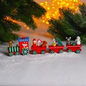 Новогодний декор «Сказочный поезд» 25×5×3 см