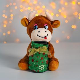 Мягкая игрушка-копилка «Бык», музыкальная, цвета МИКС Ош
