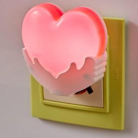 Ночник 'Сердце' LED от сети МИКС 4х7х7 см Ош