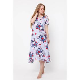 Платье женское, цвет пастельно-синий, размер 48