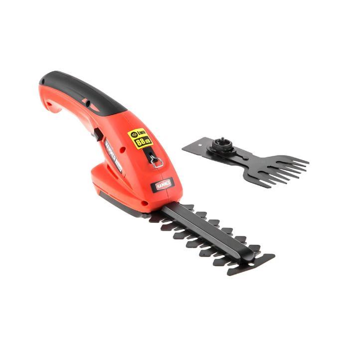 Аккумуляторные ножницы Hammer SR7.2, 7 В, 1.5 Ач, Li-Ion, рез до 8 мм, длина ножа 120 ммм