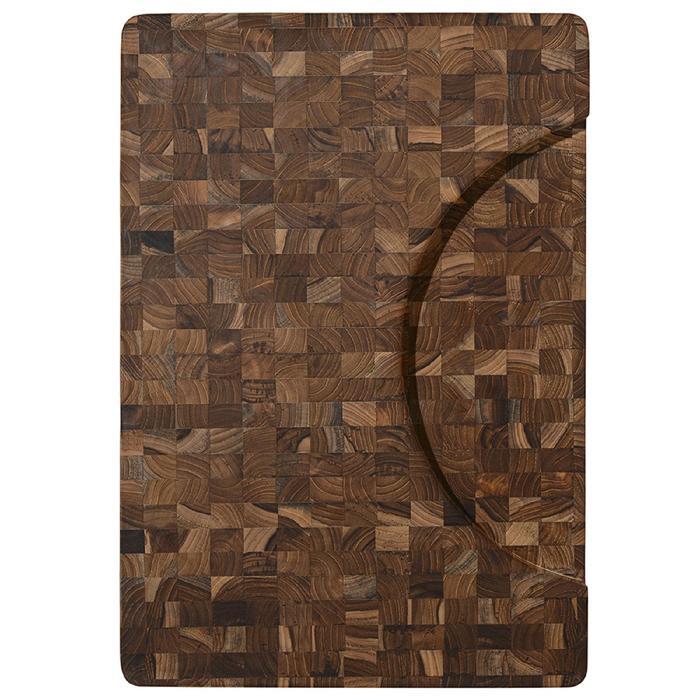 Доска разделочная торцевая Butcher block, 51×36 см, коричневый