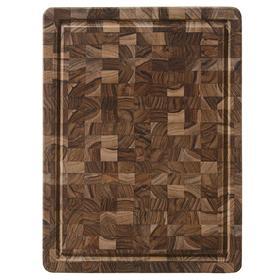Доска разделочная торцевая Butcher block, 51×38 см, коричневый