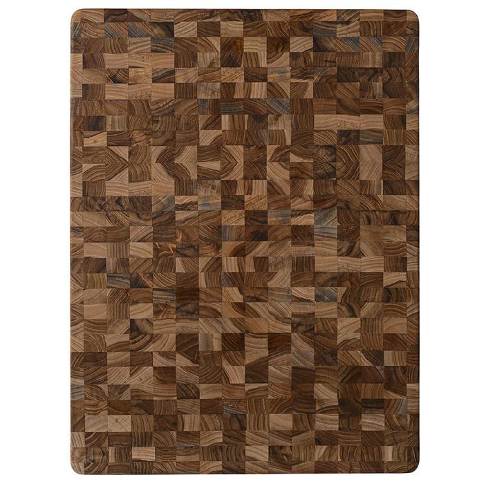 Доска разделочная торцевая Scandi, 46×36 см, коричневый