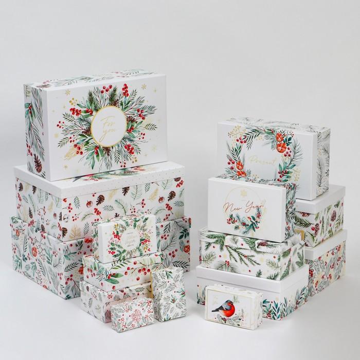 Набор коробок подарочных 15 в 1 «Акварельный», 12 х 7 х 4 см - 46,6 х 35,2 х 17.5 см