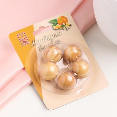 "Набор деревянных аромашариков ""Мандарин и ваниль"", 5 шт, ""Богатство Аромата"" - Фото 1"