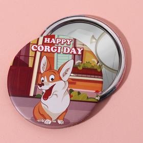 Зеркало «Корги», d 7,5 см, цвет разноцветный Ош
