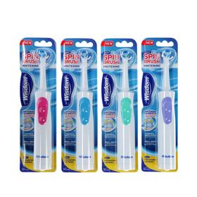 Зубная щётка Wisdom Spinbrush Whitening, возвратно-вращающаяся насадка, МИКС, от 2хААА Ош