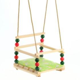 Подвесное кресло для игровой площадки с мягкой сидушкой, 'Ветерок', сиденье 34х28 см Ош
