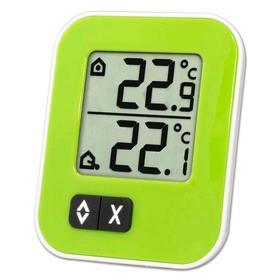 """Термометр TFA 30.1043.04 """"Moxx"""", цифровой,  выносной датчик, 1xCR2032, зелёный"""