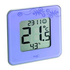 Термогигрометр TFA 30.5021.11, цифровой, комнатный, 1xCR2032, фиолетовый