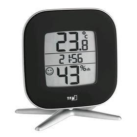Термогигрометр TFA 30.5030.01, электронный, чёрный Ош