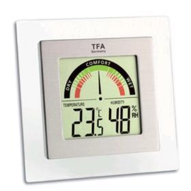 Термогигрометр TFA 30.5023, цифровой, комнатный, 1хААА, белый