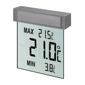 "Термометр TFA ""Vision"" 30.1025, цифровой, оконный, от солнечной батареи, серебристый"