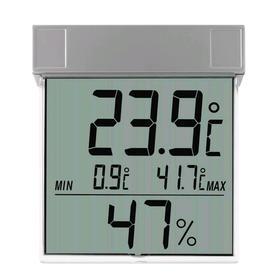 """Термогигрометр TFA """"Vision"""" 30.5020, цифровой, оконный, измерение на улице, 1хААА, серебр."""