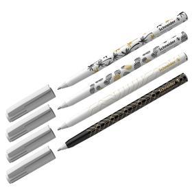 Ручка шариковая Schneider Tops 505 F Tropical узел 0,8мм, c принтами микс, синяя 151500