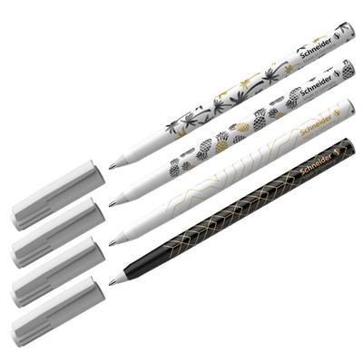 Ручка шариковая Schneider Tops 505 F Tropical узел 0,8мм, c принтами микс, синяя 151500 - Фото 1