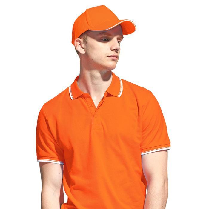 Бейсболка унисекс, размер 56-58, цвет оранжевый