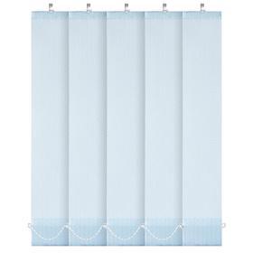 Комплект ламелей для вертикальных жалюзи «Магнолия», 5 шт, 180 см, цвет голубой Ош